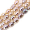 Wholesale Freshwater Pearls 11-13mm Rice Shape with Ring, Pink Color with excellent luster