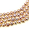 Wholesale Freshwater Pearl Beads 5.5-6mm Off Round Pink Color (Sold Per Strand)