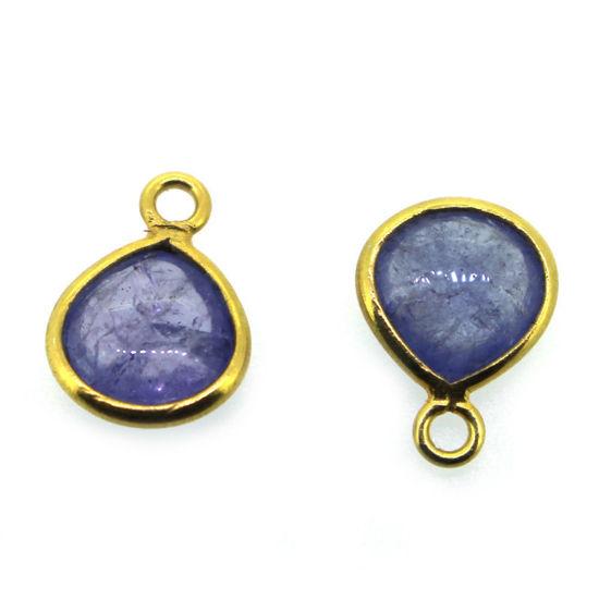 Wholesale Bezel Pendant Natural Tanzanite Tiny Heart Shape -December Birthstone