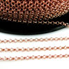 Wholesale Rose Gold Over Sterling Silver Bulk Chain - 2mm Rolo Chain (sold per foot)