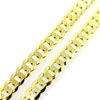 Wholesale Gold over Sterling Silver Bulk Chain - Chunky Diamond Curb Chain (sold per foot)