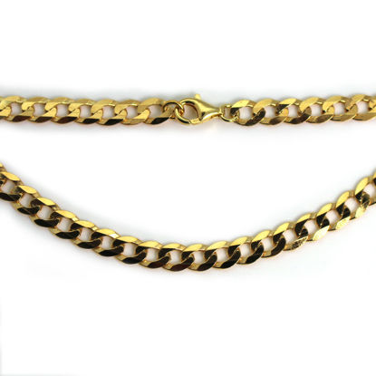 Wholesale Gold over Sterling Silver Finished Chain - Chunky Diamond Curb Chain