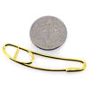 Wholesale Gold Over 925 Sterling Silver Paper Clip Charm - 40x8 mm (1 pc)