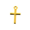 Wholesale Gold Over 925 Sterling Silver Tiny Cross Charm - 10x6 mm (1 pc)