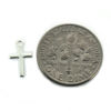 Wholesale 925 Sterling Silver Tiny Cross Charm - 10x6 mm (1 pc)