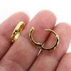 Wholesale Gold over Sterling Silver Huggies Hoop Earrings -13mm (Sold Per Pair)