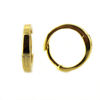 Wholesale Gold over Sterling Silver Smooth Huggies Hoop Earrings -13.5mm (Sold Per Pair)