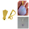 Wholesale Gold over Sterling Silver Simple Pendant Bail - 12mm (1 pc)