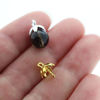 Wholesale Gold over Sterling Silver Small Flower Bead Cap Bail with Post - 7mm (1 pc)