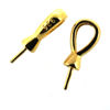 Wholesale Gold over Sterling Silver Simple Bead Cap Bail with Post - 13mm (1 pc)