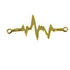 Wholesale Gold over Sterling Silver Heartbeat Charm - 27 mm (1 pc)