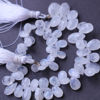 Wholesale Semiprecious Gemstone Beads - 100% Genuine Rainbow Moonstone Gemstone Bead - Faceted Pear Shape -Graduated Size from 9mm to 13.8mm- (Sold Per Strand)