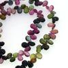 Wholesale Semiprecious Gemstone Beads -100% Genuine Tourmaline Gemstone Bead - Faceted Pear Shape - (Sold Per Strand)