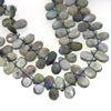Wholesale Semiprecious Gemstone Beads -100% Genuine Labradorite  Gemstone Bead - Faceted Pear Shape - (Sold Per Strand)
