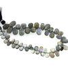 Wholesale Semiprecious Gemstone Beads -100% Genuine Labradorite  Gemstone Bead - Faceted Pear Shape -Graduated size- (Sold Per Strand)