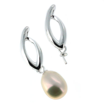 Wholesale 925 Sterling Silver Flame with Swinging Peg Bail Cap for Drilled Pearls and Beads