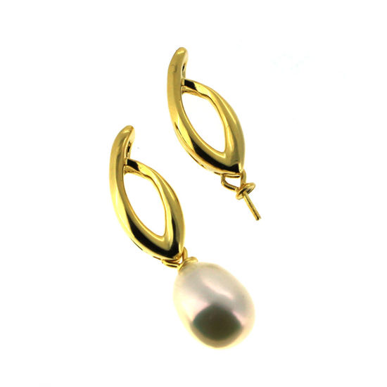 Wholesale Gold Plated 925 Sterling Silver Flame with Swinging Peg Bail Cap for Drilled Pearls and Beads