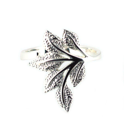 Wholesale Sterling Silver Leaf Ring-Size 7 (1 piece)