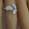 Wholesale Sterling Silver Adjustable Leaf Ring (1 piece)