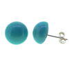 Wholesale Sterling Silver 10MM PERU Earring Studs  (1 pair)