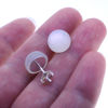 Wholesale Sterling Silver 10MM Moonstone Earring Studs  (1 pair)