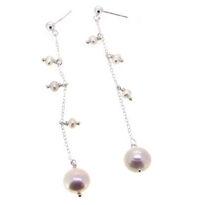 Wholesale Sterling Silver Dangle Pearl  Earrings