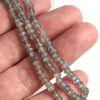 Wholesale Semi-Precious Gemstone Beads - 3.5mm Faceted Rondelle - Labradorite (1 Strand)