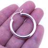 Wholesale Sterling Silver Eurowire Hoop Earrings -3*28mm (Sold Per Pair)