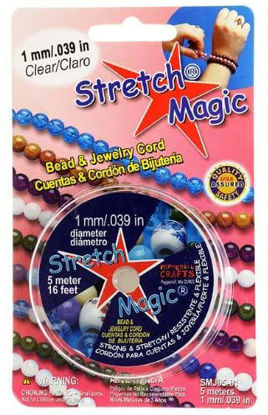 Wholesale Stretch Magic - Bead & Jewelry Cord - Clear 1mm 5 Meters