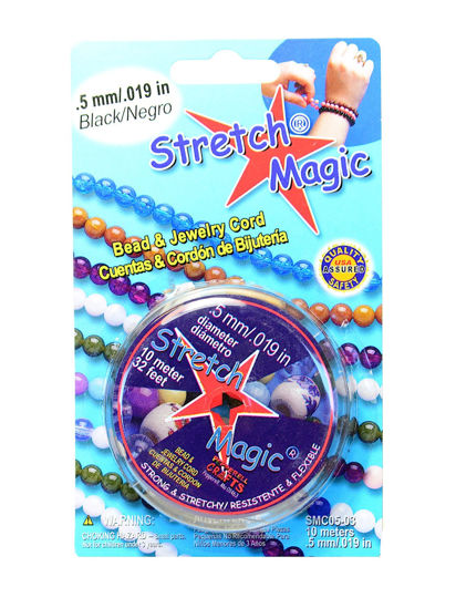 Wholesale Stretch Magic - Bead & Jewelry Cord - Black 0.5mm 10 Meters