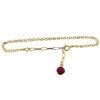 "Wholesale Gold over Sterling Silver Tiny Bezel Charm Bracelet -Adjustable 8"""