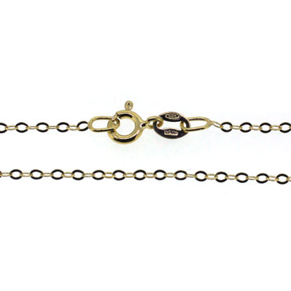 Wholesale Gold over Sterling Silver Light Flat Cable Chain, Wholesale Bulk Necklace Chains