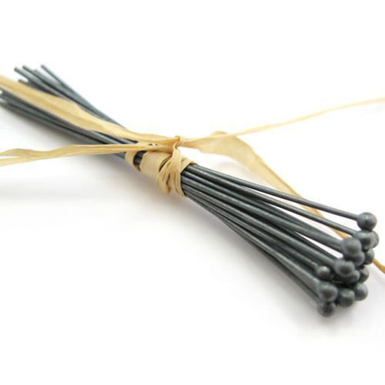Wholesale Oxidized Sterling Silver Ball End Headpins, 24 gauge 1.5 inch Long, Wholesale Findings