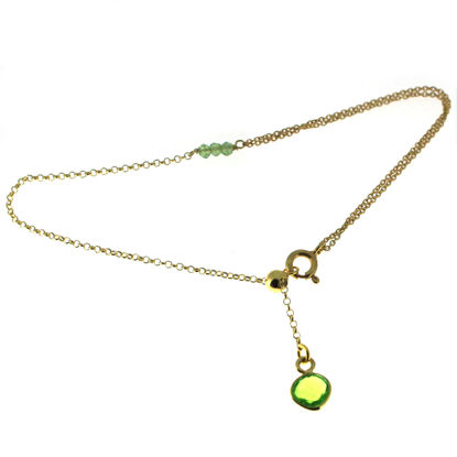"""Wholesale Gold over Sterling Silver Tiny Heart Bezel Charm Bracelet -Adjustable 8"""" -  Available for all birthstones"""
