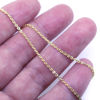 Wholesale Gold over Sterling Silver Bulk Chain - 1.3x1.5mm Solid Flat Cable Chain (sold per foot)