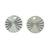 Wholesale Sterling Silver Textured Round Shape Charm 10mm (1 pcs)