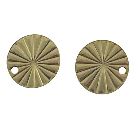 Wholesale Gold over Sterling Silver Textured Round Shape Charm 10mm (1 pc)