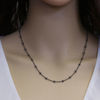 Wholesale Oxidized Sterling Silver Finished Chain - 3mm Ball Satellite Cable Chain