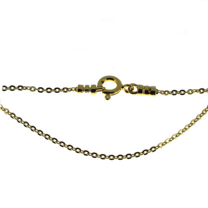 Wholesale Gold over  Sterling Silver Finished Chain - Solid Oval Cable Chain