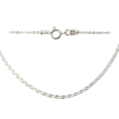 Wholesale 925 Italian Sterling Silver Finished Chain - Solid Oval Cable Chain