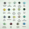 "Wholesale Sterling Silver Round Bezel Tassel Necklace - 24"""