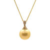 """Wholesale 14K Yellow Gold Golden South Sea Pearl Pendant Necklace - 18"""""""