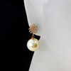 Wholesale 14K Yellow Gold Golden South Sea Pearl Snowflake Earrings