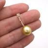 Wholesale 14K Yellow Gold Golden South Sea Pearl Drop Earrings
